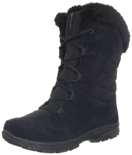 Hot Sale Columbia Women's Ice Maiden Lace Winter Boot,Black/Columbia Grey,6.5 M US