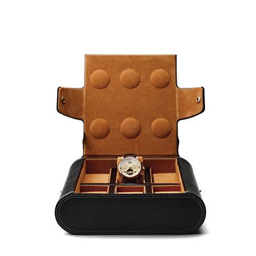 Yousiju Bolso de exhibición de Reloj de Pulsera de Cuero de PU, Almacenamiento de Reloj portátil, Organizador Interno de joyería de Terciopelo