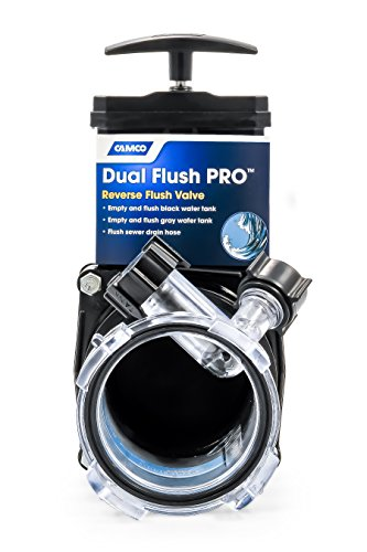 Camco Dual Flush Pro Holding Tank Rinser with Gate Valve- Thoroughly Cleans Entire Septic System and Breaks Down Tough Clogs in Pipes (39062)