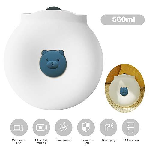 KKmoon Bolsa de silicone para água quente quente e fria Mini garrafa portátil de água quente de 560ml de uso duplo