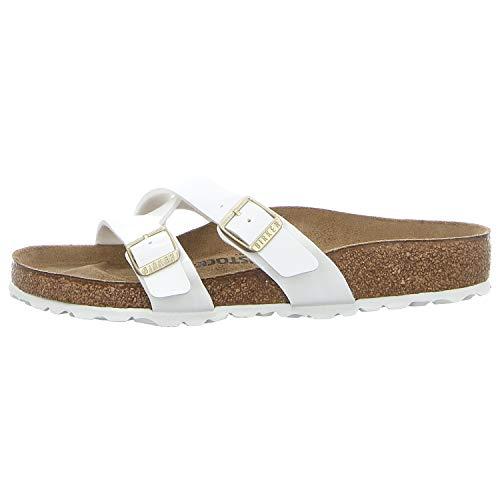 Yao Balance Women Slip on Shoe Birko Flor Patent White