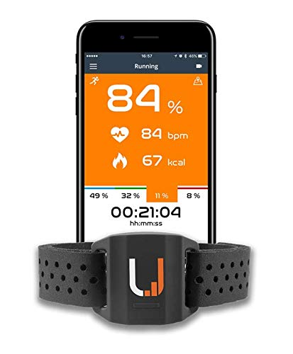 UPTIVO Armband - Optical Waterproof Armband Heart Rate Monitor with Dual Band ANT+ and BLE Bluetooth Smart, Compatible with iPhone, Android, GPS Watches