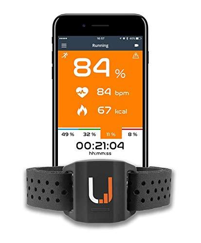 UPTIVO Armband - Cardiofrequenzimetro da Braccio con Doppia Trasmissione Bluetooth Smart, Ant+. Compatibile con iPhone, Android, Orologi GPS Che supportano Ant+
