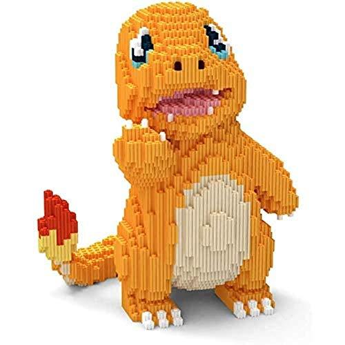 Nwihac Bloques de construcción 2157 Dragón de Fuego pequeño Dragón 3D DIY Juguetes educativos, niños Bloques de construcción Juguetes, Adultos y Regalos para niños