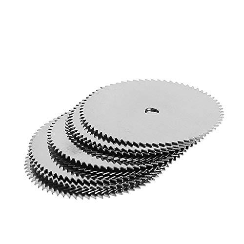 Wnuanjun 12pcs 10 X 32 mm de Madera Hoja de Sierra de Disco + 2 x Varilla Rotary Herramienta de Corte