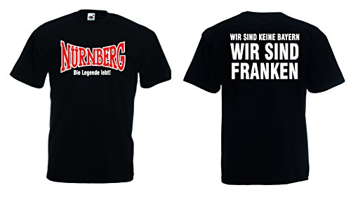 Fruit of the Loom Nürnberg Ultras T-Shirt Die Legende lebt! Wir sind Franken|M