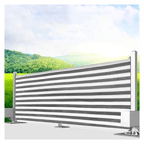 CAIJUN Voile D'ombrage De Balcon, Extérieur Écran Opaque Protéger La Vie Privée Rapporter pour Parasol PEHD Couverture De Clôture avec Serre-câbles, 8 Tailles (Color : A, Size : 0.75x6m)