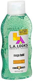 L.A. LOOKS Absolute Styling Radical Control Gel, Mega Hold 20 oz (Pack of 4)