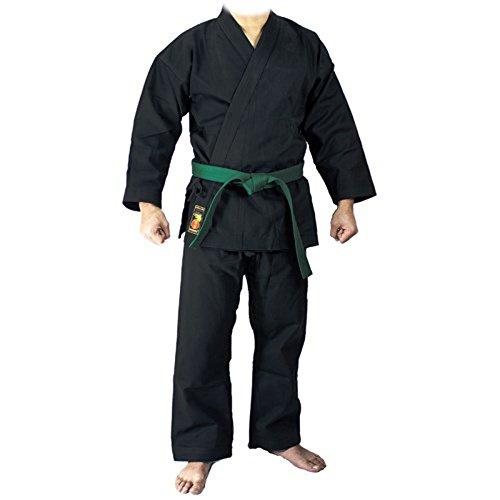 YORYU Keikogi Karategi Deluxe Negro 9 oz. Color Negro, Negro, 110