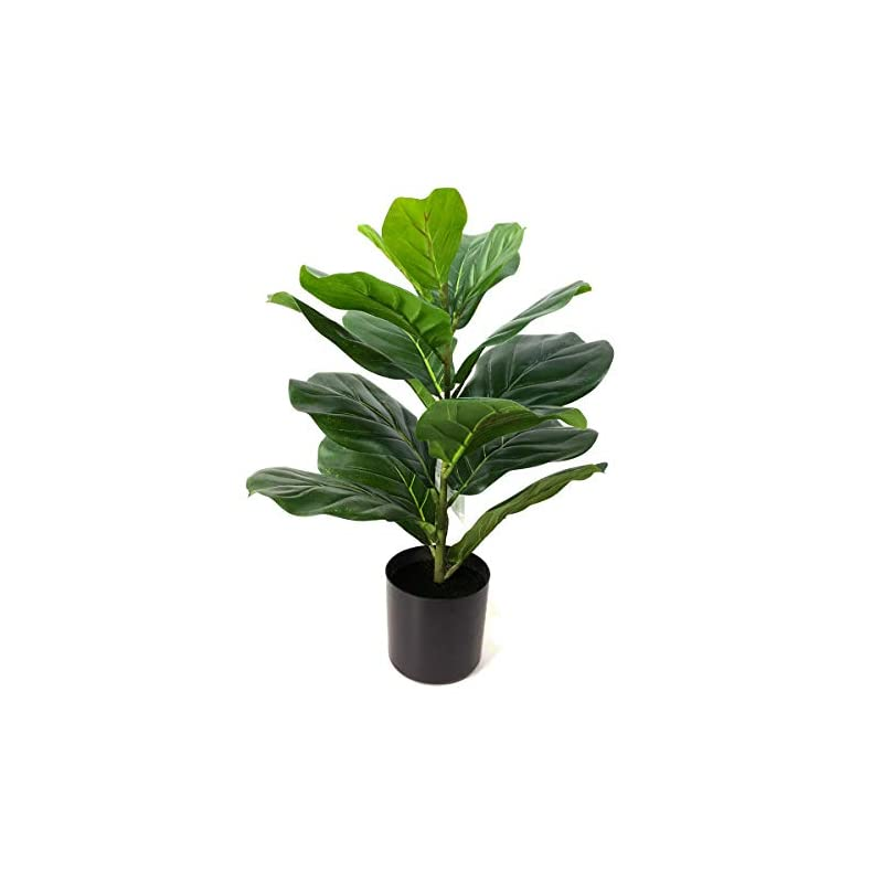 """silk flower arrangements besamenature 22"""" artificial mini fiddle leaf fig tree, faux tree used for home office decoration"""