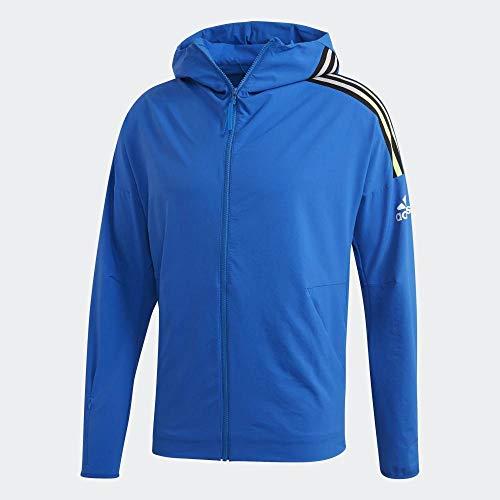adidas M Zne HD Wvn Sudadera, Hombre, Azul, S