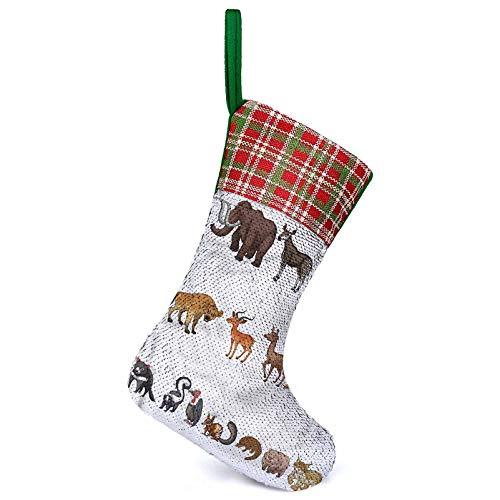 Adorise Personalizar calcetines de Navidad diferentes animales salvajes raros calcetines colgantes familiares hacen que tu hogar luzca lindo.