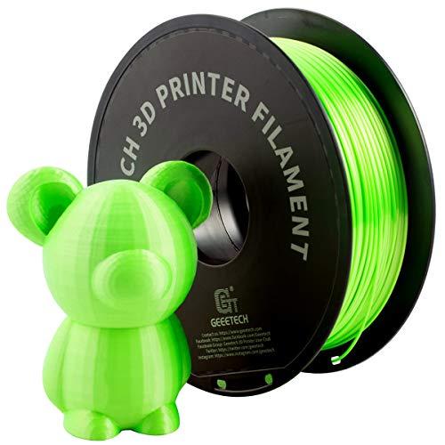 GIANTARM Filamento PLA 1.75mm Silk Verde, Impresora 3D PLA Filamento 1 kg Carrete
