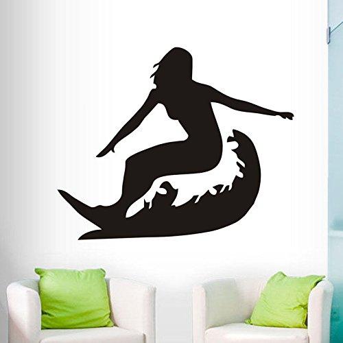 Sanzangtang Surf Vinyl sticker Sport Silhouet decoratie huis woonkamer slaapkamer afneembare kunst muursticker huis behang
