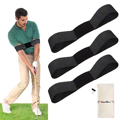 ShuloOK - Attrezzature per allenamento da golf, 3 pezzi, per allenamento da golf, per principianti e golf, per la pratica del golf, per correggere la postura, unisex, 3 pezzi, colore: nero