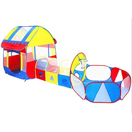 MROSW Kinder Krabbeln Tunnel zusammenklappbarer Kinder Tent Indoor Prinzessin Girl Game House Three in One Big House Baby-Spiel-Haus-Spielzeug Haus