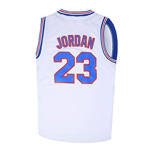 Youth Basketball Jersey Moive #23 Space Jam Shirts for Kids White Size L