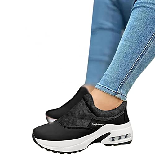 Aunimeifly Womens Walking Shoes Slip-on Sneakers Platform Work Shoes Athletic Running Clothes Shoes Sport Walking Shoes