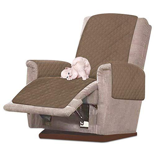 CloverStar Sesselschoner Sesselauflage Sesselschutz Wasserdicht rutschfest Sofabezug 1 Sitzer Relaxsessel Abdeckung mit Armlehne Schonbezug Sofaüberwurf 1 Sitzer (Braun)