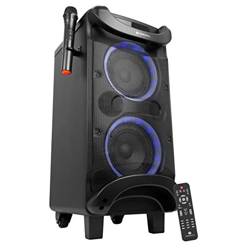 Zebronics Zeb-Moving Monster 2x7 Trolly DJ Speaker with Bluetooth connectivity,Karaoke,Wireless mic and Recording.
