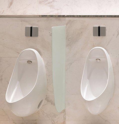 Schamwand, WC Urinal Trennwand, Bidet Trennwand Toiletten Trennwand ESG Glas Variante B