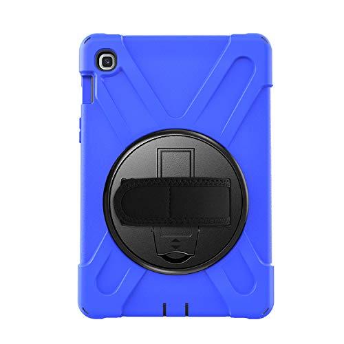 BlinkCat iPad Funda para Samsung Galaxy Tab A7 10.4 2020 Resistente3 Capa Híbrido Protectora Cubierta con Incorporado Kickstand / Correa para el Hombro+Correa de Mano - Azul