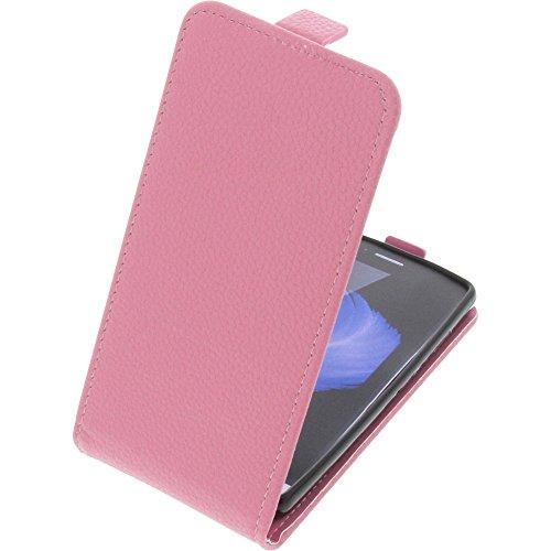 foto-kontor Tasche für TP-Link Neffos C5L Smartphone Flipstyle Schutz Hülle pink