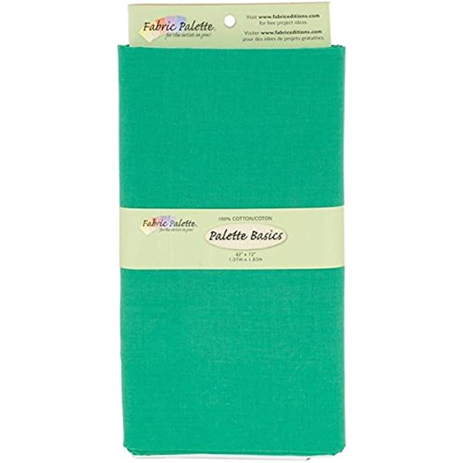 Fabric Editions 2-Yard Pre-Cut Fabric Palette, 42 by 72-Inch, Grass Green