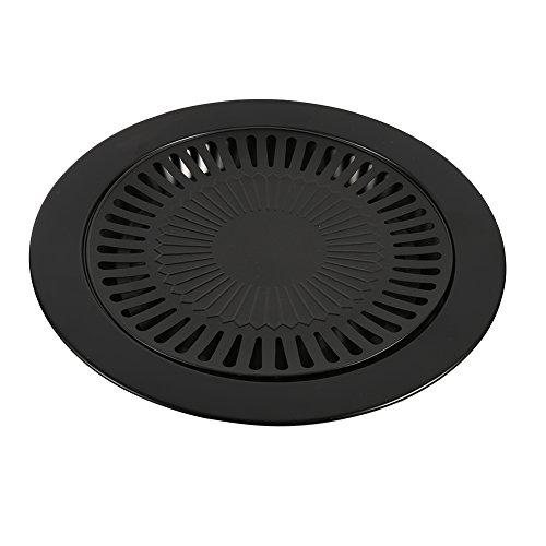 BBQ Parrilla Pan Antiadherente Tablero Clásica Parrilla de Hierro Fundido Bandeja Lavavajillas Caja de Goteo Extraíble Socialme-eu