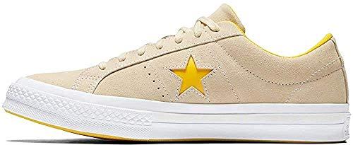 Converse Lifestyle One Star Ox Suede, Scarpe da Fitness Unisex-Adulto, Beige (Vanilla/Solar Power/White 740), 40 EU