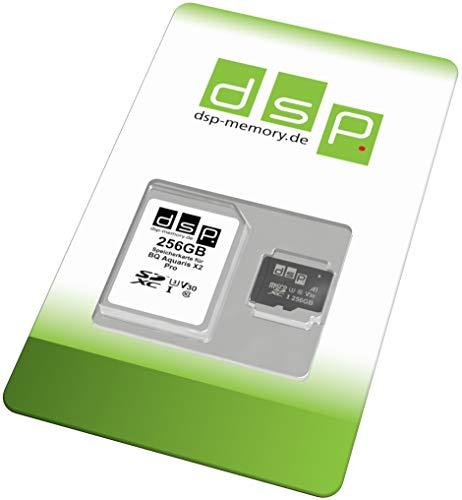 Tarjeta de Memoria de 256 GB (A1, V30, U3) para BQ Aquaris X2 Pro