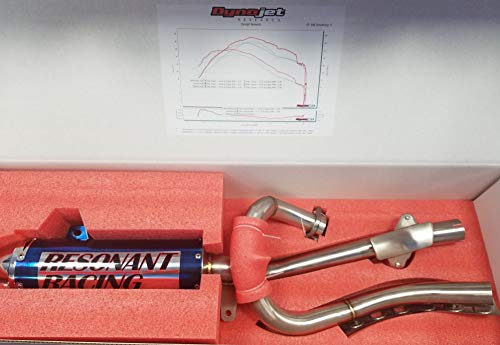 Zoom Zoom Parts Performance Titanium Exhaust Muffler System For 1987 1988 1989 1990 1991 1992 1993 1994 1995 1996 1997 1998 1999 2000 2001 2002 2003 2004 Yamaha Warrior 350 YFM 350 Complete System
