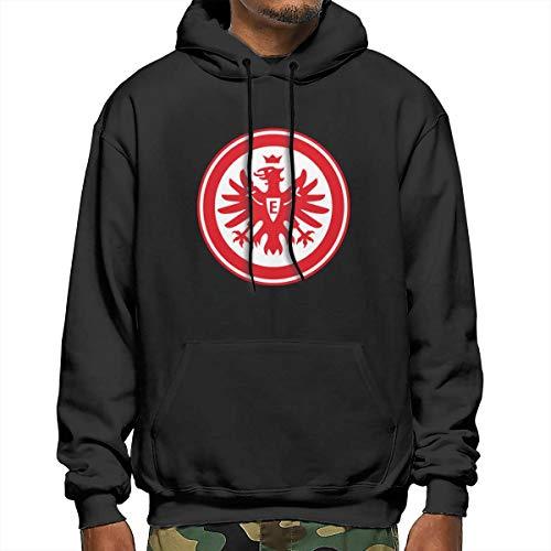 hulili Mens Hoodie Sweatshirt Jumper Bundesliga Eintracht Frankfurt Long Sleeve Drawstring Hooded Coat with Big Pockets