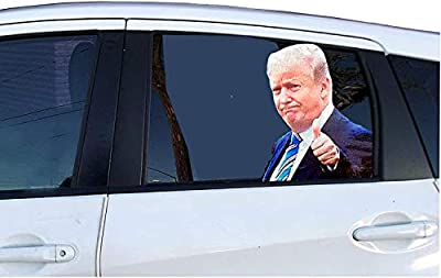 American Art Classics Ride with Donald Trump Car Window Decal, Window Cling - Easy Removal Leaves No Residue - Do You Ride with Trump? Now You Can Show It