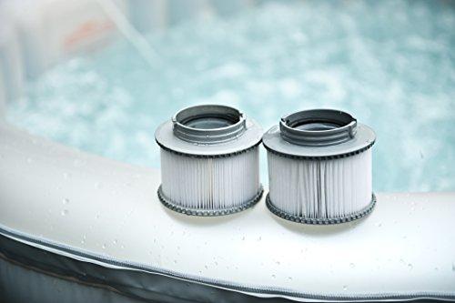 Miweba MSpa Filterkartusche Filter 2 x Whirlpool Wasserfilter B0301964 für aufblasbaren Whirlpool Zubehör Outdoor Pool Spa