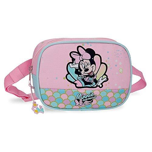 Disney Minnie Mermaid Riñonera Rosa 17x12x6 cms Poliéster
