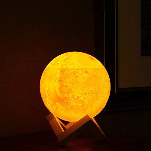 JXSBD 880ML Aire Humidificadores 3D LED lámpara de luz de la luna Difusor luz de la noche del aroma del aceite esencial por ultrasonidos Humidificador de vapor frío Noche purificador, regalos ajustabl