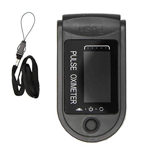 Pulsossimetro,Saturimetro da Dito Portatile Professionale con Display LCD per Frequenza del Polso