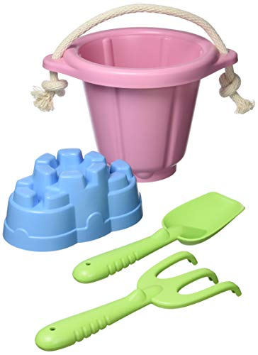 Green Toys Sand Play Set, Pink CB - 4 Piece Pretend Play, Motor Skills, Kids Outdoor Toys. No BPA, phthalates, PVC. Dishwasher Safe, Recycled Plastic, Made in USA.