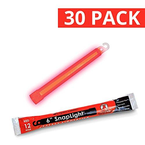 Cyalume 9-00731 Snap Light Stick, 6', Red (Pack of 30)