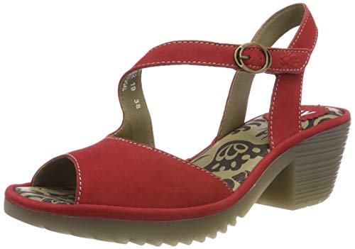 Fly London Damen Wyno023fly Sandalen, Rot (Lipstick Red 002), 40 EU