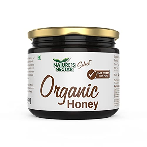 Nature's Nectar Raw Organic Honey 400g | 100% Pure NMR Tested Honey | Raw and Unprocessed