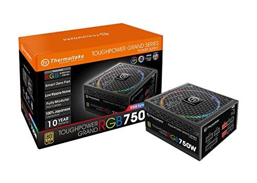Thermaltake Toughpower Grand RGB 750W 80+ Gold Fully Modular - RGB Sync Edition - Fuente de alimentación, Color Negro