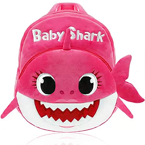 Shark - Mochila para Niños de Dibujos Animados, Mochila para guardería, (Rosado)