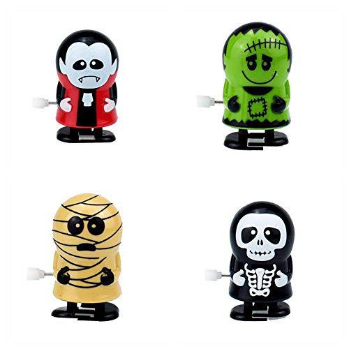 4 Stück / Set Wind-Up Toys Halloween Sortierte Uhrwerk Spielzeug Zombie Vampire Spielzeug-Partei-Bevorzugungen Halloween Props