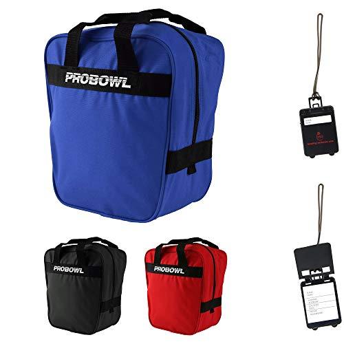 Bowling Ball Tasche Pro Bowl Single Bag Basic und Adressanhänger (blau)