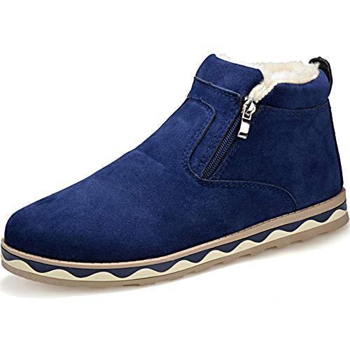 HOAPL Heren Sneeuwlaarzen Winter Enkellaarzen Warm Bont Gevoerde Booties Verdikking Schoenen Zip Sneakers Outdoor Dikke onderkant Booties