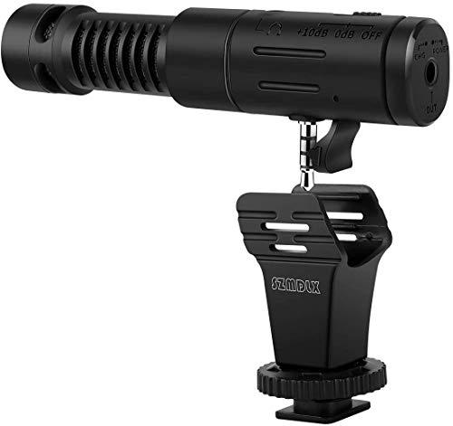 Video Mikrofon, SZMDLX Kamera Mikrofon, Smartphone Mikrofon Hypercardioid Richtmikrofon DSLR Video Externes Mic Kondensator für Videos, Richtungskondensator für Nikon Canon Fuji DV Camcorder Kamera