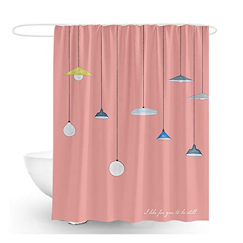 Polyester douchegordijnen vormbewijs Resistant Badkamer Gordijn Kroonluchter Decoratie dikkere stof (Color : B, Size : 180X200cm)