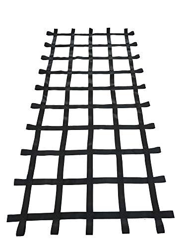 Fong 8 ft X 4 ft Climbing Cargo Net Black (96 inch x 48 inch) - Playground Cargo Net - Climbing Net for Swingset - Indoor Climbing Net - Climbing Ladder